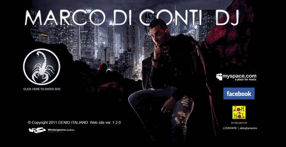 Esempio Sito web Flash e grafica | Dj Marco di Conti